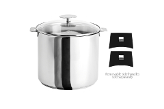 Cristel Stainless Steel 7.5 qt. Stock Pot w/Glass Lid