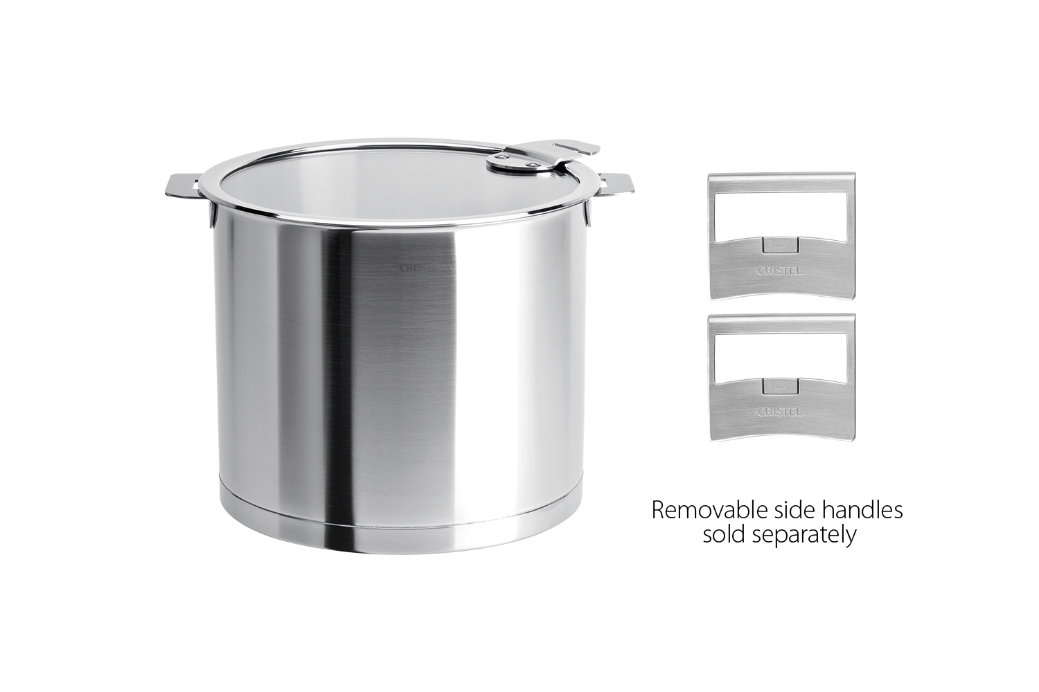 Cristel Strate Brushed Stainless 10 qt. Stock Pot w/Glass Lid