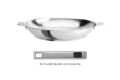 Cristel Strate Brushed Stainless 9.5 inch Fry Pan