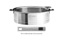 Cristel Strate Brushed Stainless 5.5 qt. Saute Pan w/Glass Lid