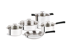 Cristel Mutine Stainless Steel 13 Piece Cookware Set, Removable Handle
