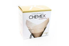 Chemex Bonded Filters Pre-folded Squares Unbleached