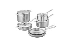 Demeyere Industry5 Stainless Steel 10 Piece Cookware Set