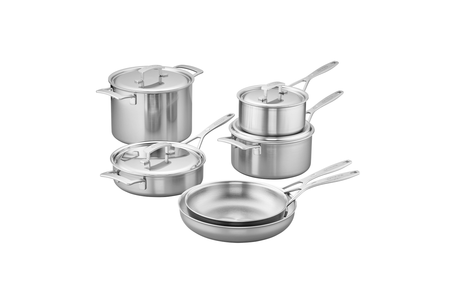 Demeyere Industry5 Stainless Steel 10 Piece Cookware Set