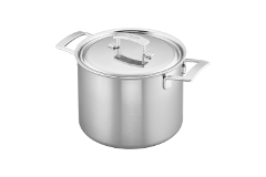 Demeyere Industry5 Stainless Steel 8 qt. Stock Pot