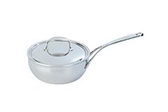 Demeyere Atlantis Stainless Steel 3 1/2 qt. Conic Saute Pan & Lid