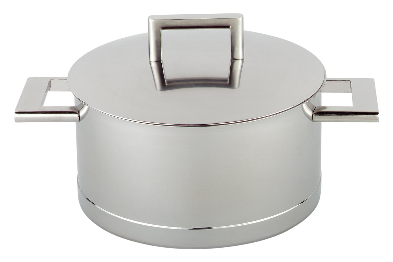 Demeyere John Pawson Stainless Steel 8.9 qt. Casserole or Saucepot & Lid
