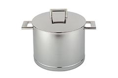 Demeyere John Pawson Stainless Steel 5.3 qt. Stock Pot & Lid
