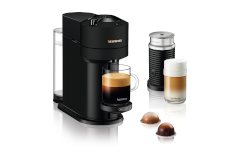 Nespresso VertuoNext Coffee and Espresso Machine by De'Longhi with Aeroccino - Black
