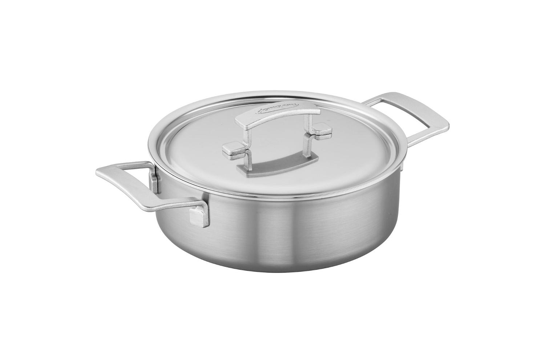 Demeyere Industry5 Stainless Steel 4 qt. Deep Saute Pan
