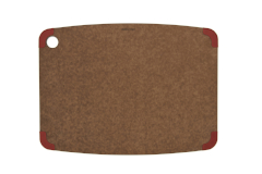 Epicurean Non-Slip Series Nutmeg 18 x 13 Cutting Board with Red Corners