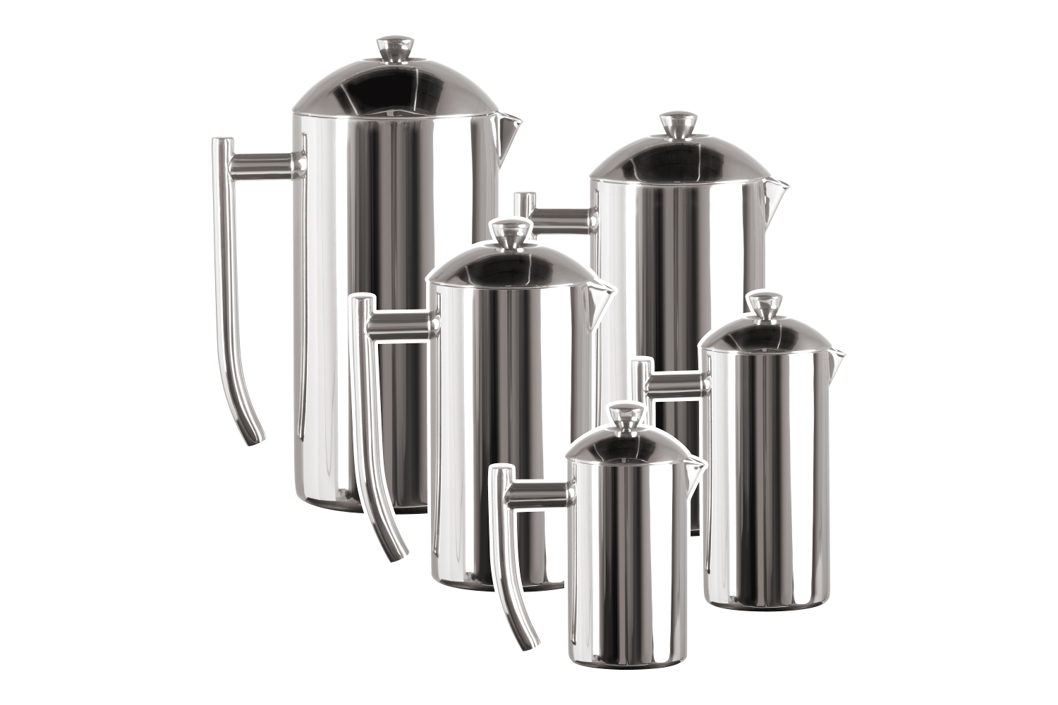 Frieling Mirror Stainless Double Wall French Press Coffee Makers