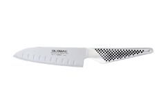 Global 5 1/4 inch Santoku Chef's Knife - Hollow Edge