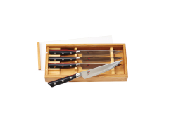 Miyabi Evolution 4 Piece Steak Knife Set w/Bamboo Box