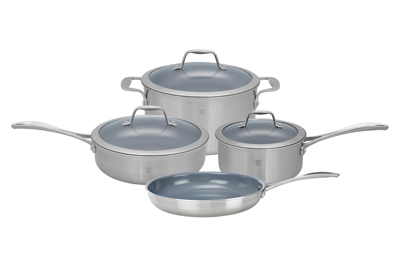 Zwilling J.A. Henckels Spirit 7 Piece Cookware Set - Ceramic Nonstick Coating