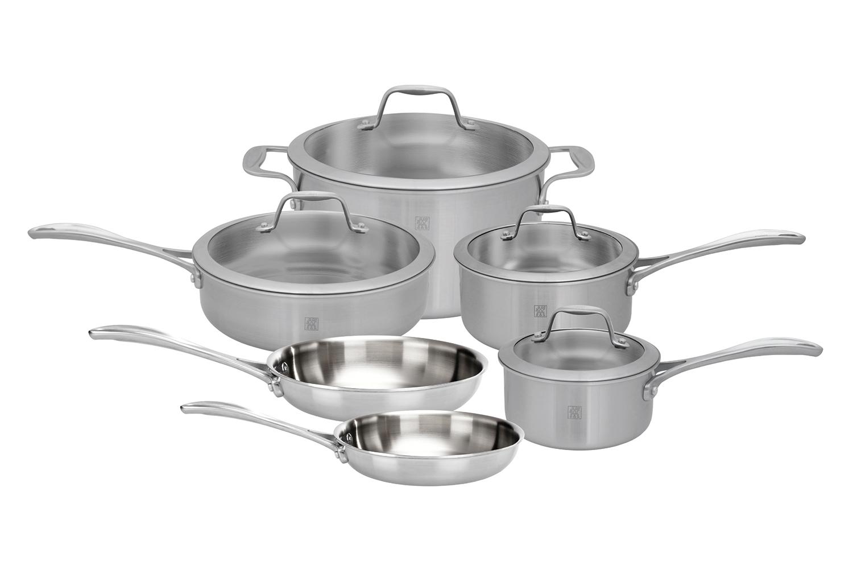 Zwilling Spirit 10 Piece Stainless Steel Cookware Set