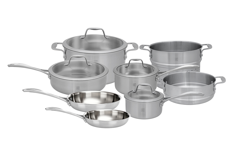 Zwilling J.A. Henckels Spirit 12 Piece Stainless Steel Cookware Set