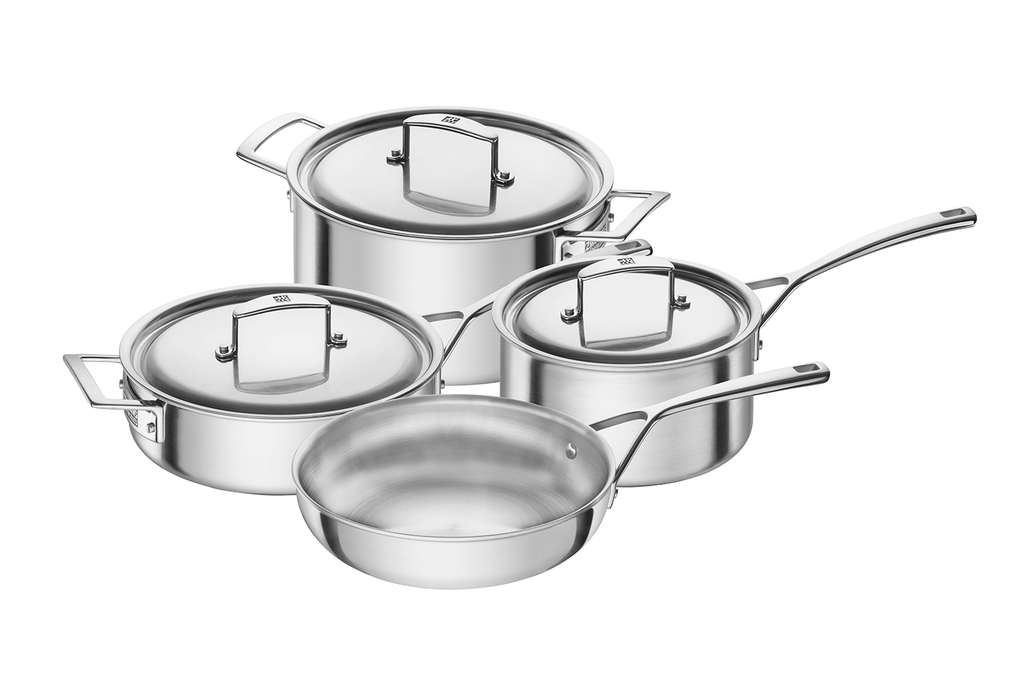 Zwilling Aurora 5-Ply Stainless Steel 7 Piece Cookware Set