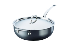 Hestan NanoBond Stainless Steel 5 qt. Covered Essential Pan w/Helper Handle