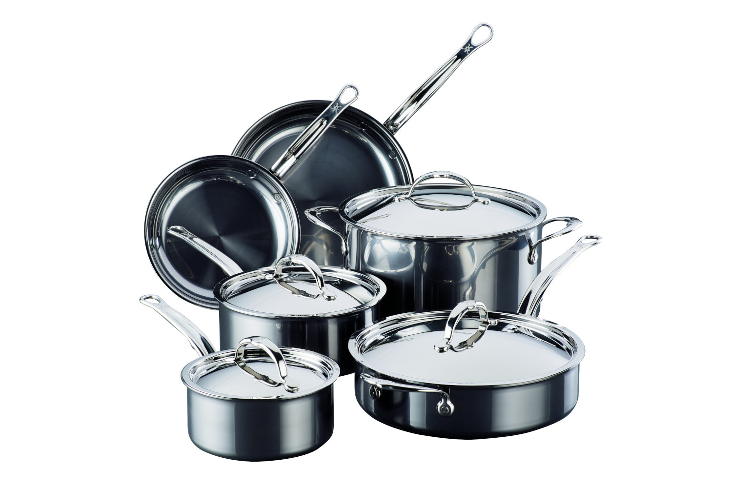 Hestan NanoBond Stainless Steel 10 piece Cookware Set