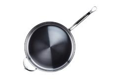 Hestan NanoBond Stainless Steel 3 1/2 qt. Covered Saute w/Helper Handle