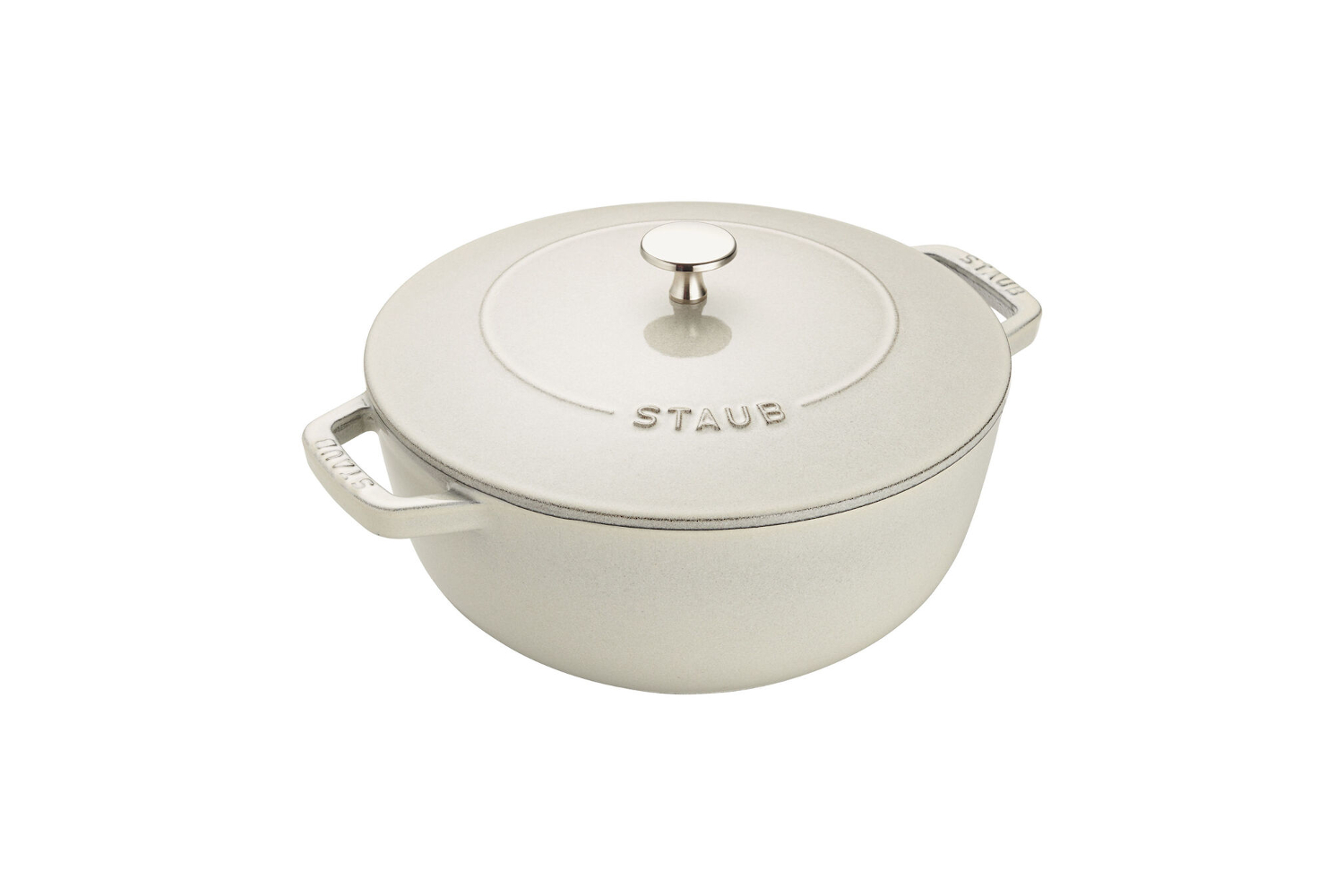 Staub Cast Iron 3 3/4 qt. Essential French Oven - White Truffle