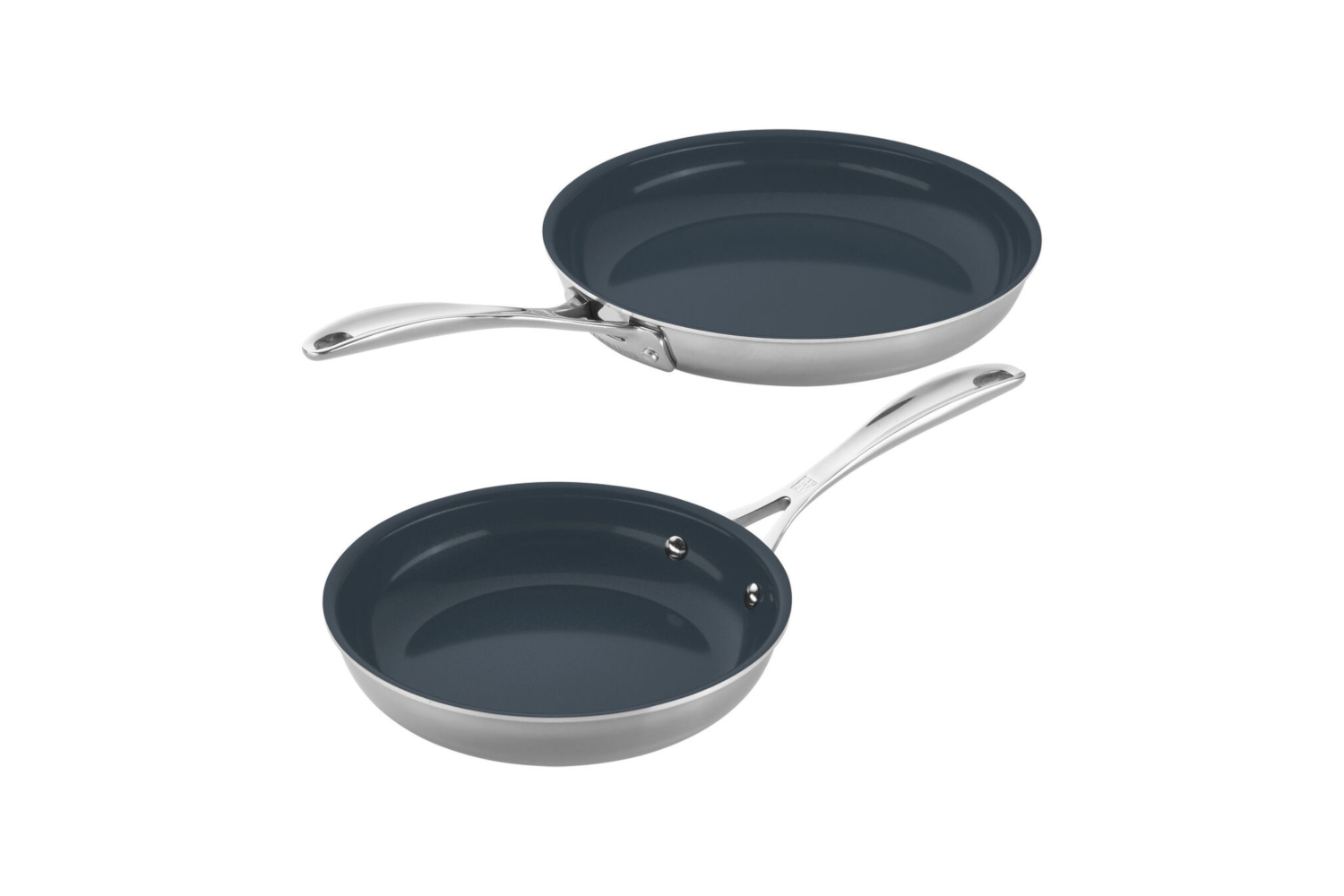 Zwilling CFX Stainless Steel 2 Piece Ceramic Nonstick Fry Pan Set