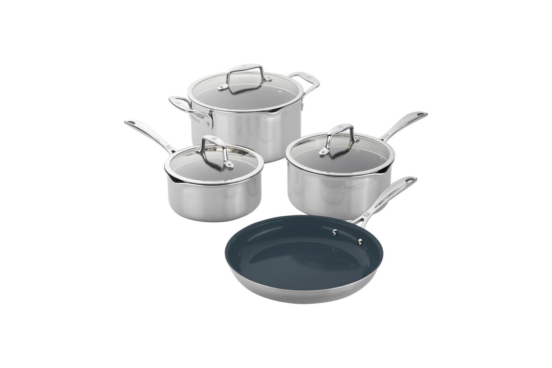 Zwilling CFX Stainless Steel 7 Piece Ceramic Nonstick Cookware Set