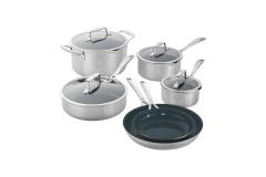 Zwilling CFX Stainless Steel 10 Piece Ceramic Nonstick Cookware Set