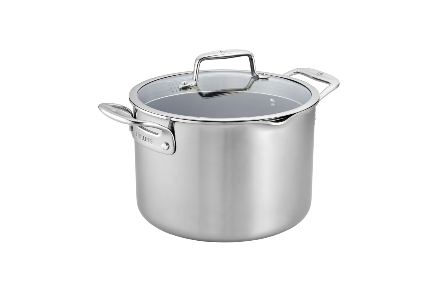Zwilling CFX Stainless Steel 8 qt. Ceramic Nonstick Stock Pot