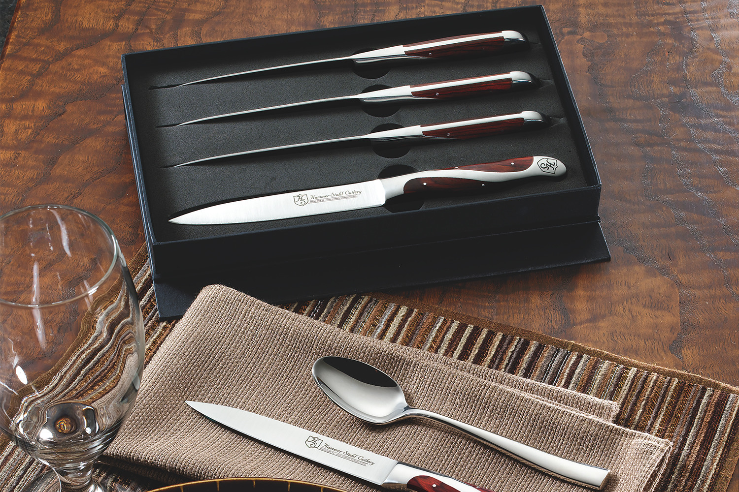 Hammer Stahl 4 Piece Steak Knife Set w/Gift Box