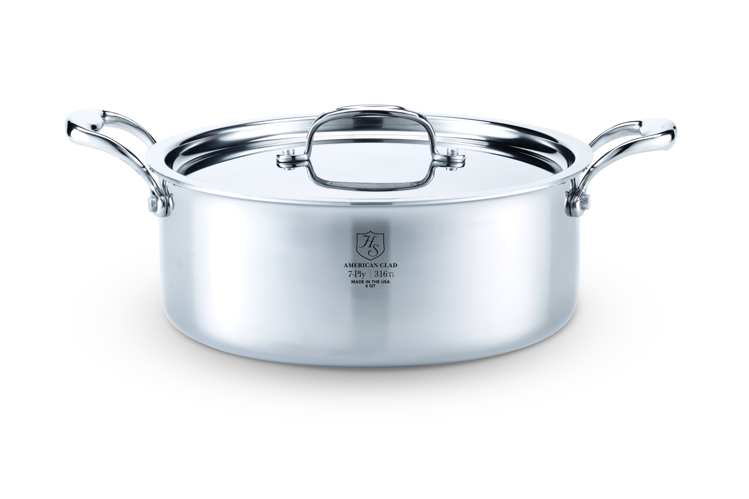 Hammer Stahl Stainless 7-Ply 6 qt. Rondeau w/Lid