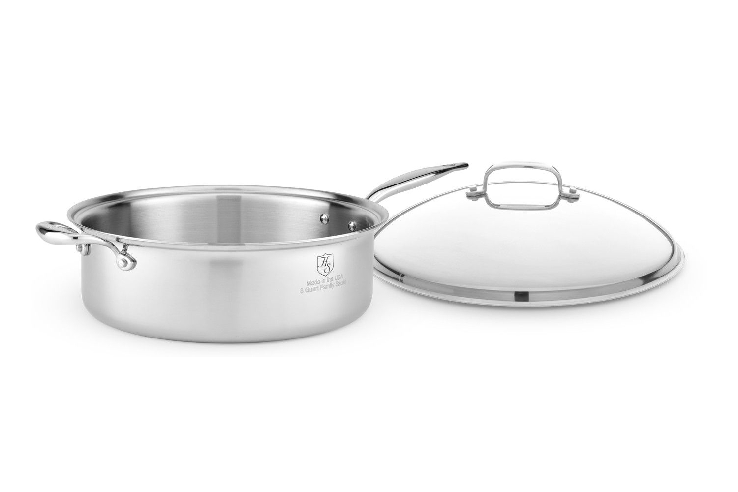 Hammer Stahl Stainless 7-Ply 8 qt. Family Saute w/Lid