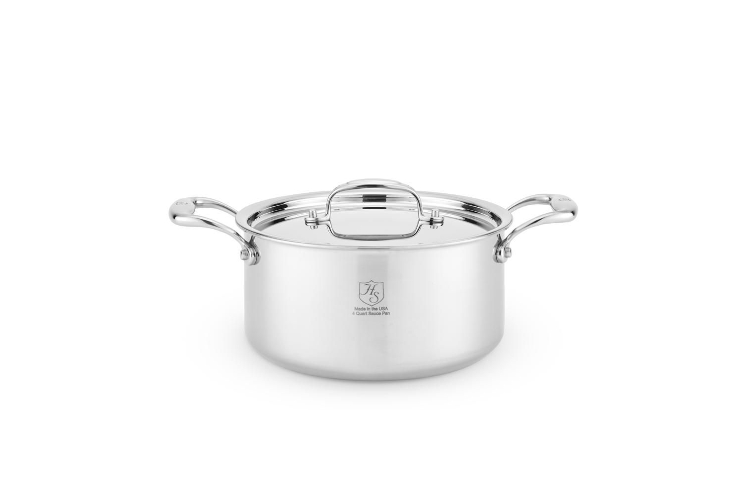 Hammer Stahl Stainless 7-Ply 4 qt. Sauce Pot w/Lid