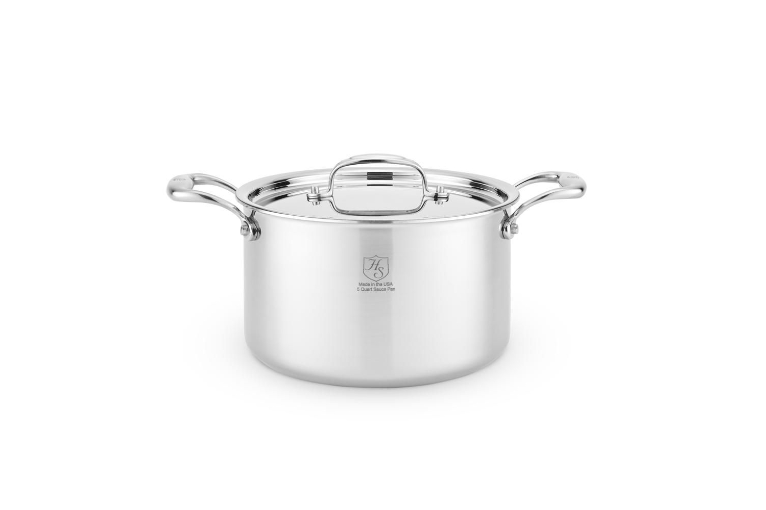Hammer Stahl Stainless 7-Ply 5 qt. Sauce Pot w/Lid