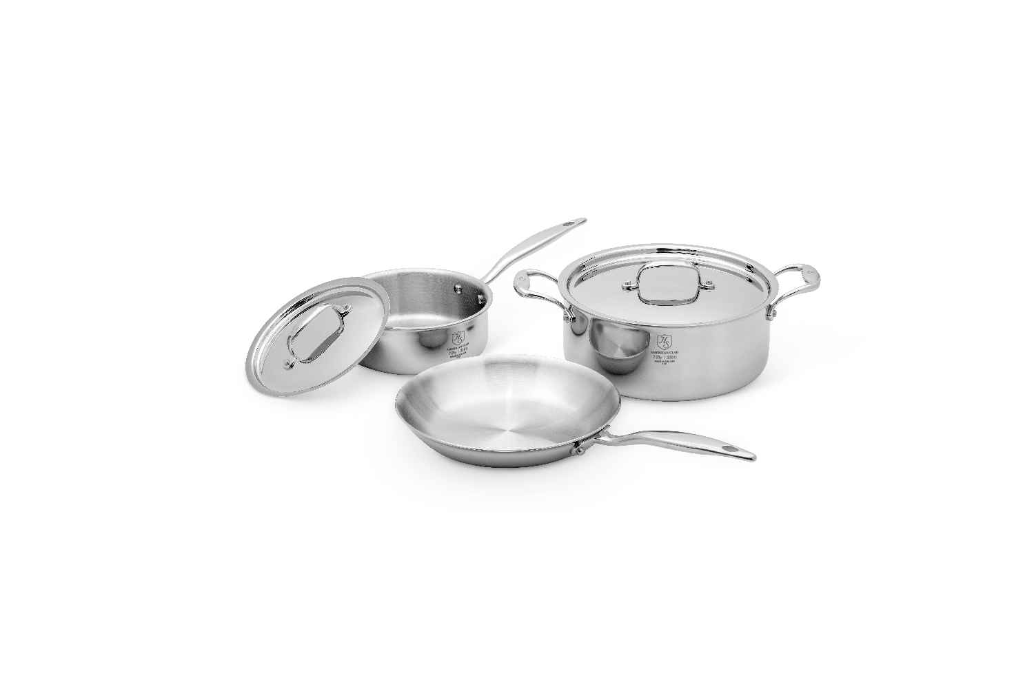 Hammer Stahl Stainless 7-Ply 5 Piece Cookware Set