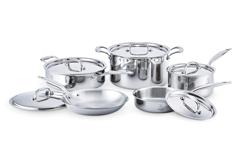 Hammer Stahl American Clad 10 Piece Cookware Set