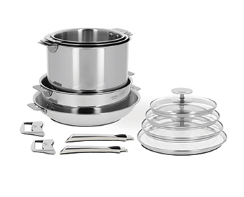 Cristel Casteline Removable Handle Stainless Steel Cookware