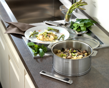 Cristel Strate Removable Handle Brushed Stainless Steel Cookware