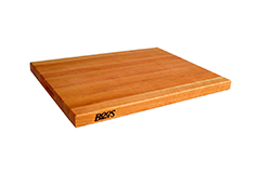 John Boos Reversible Edge Grain Cutting Board w/Grips - 20 x 15 x 2 1/4 inch - Cherry