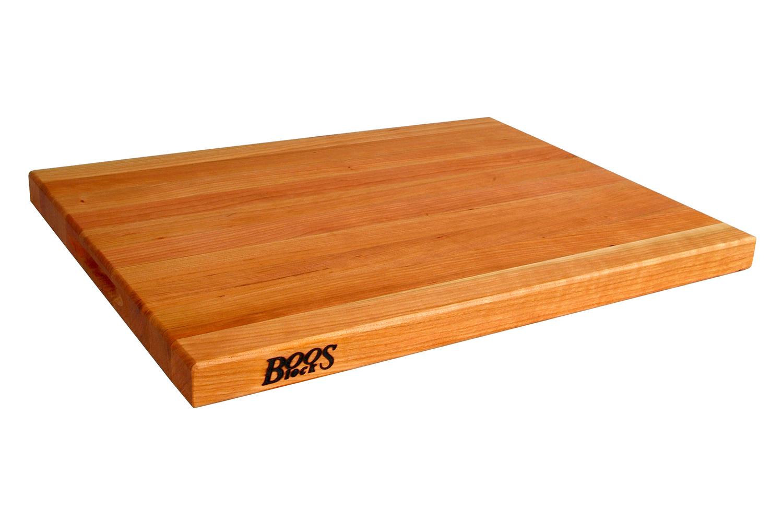 John Boos Reversible Edge Grain Cutting Board w/Grips - 20 x 15 x 2 1/4 inch - Cherry