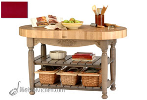 John Boos American Heritage Harvest Table - Barn Red