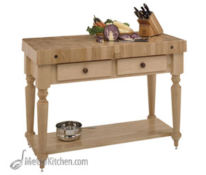 John Boos Cucina Rustica w/ Solid Wood Shelf - 30 in x 24 in