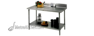 John Boos Tavalo w/ Shelf w/ 6 in 60 in x 24 in Top