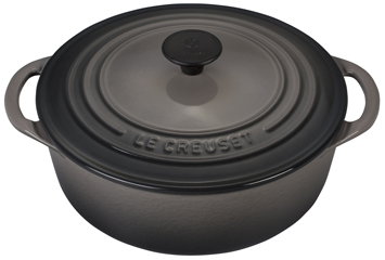 Le Creuset Signature Cast Iron 2 3/4 qt. Shallow Round Dutch Oven - Oyster