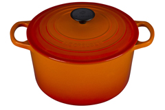 Le Creuset Enameled Cast Iron 5 1/4 qt. Round Deep Dutch Oven - Flame