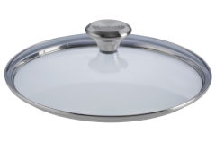 Le Creuset 9 1/2 inch Glass Lid w/Stainless Steel Knob
