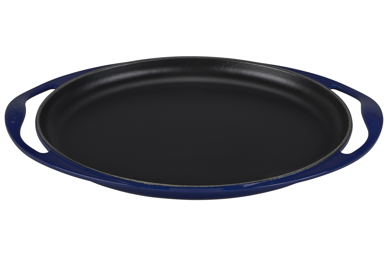 Le Creuset Enameled Cast Iron 12 1/4 inch Oval Skinny Griddle - Indigo