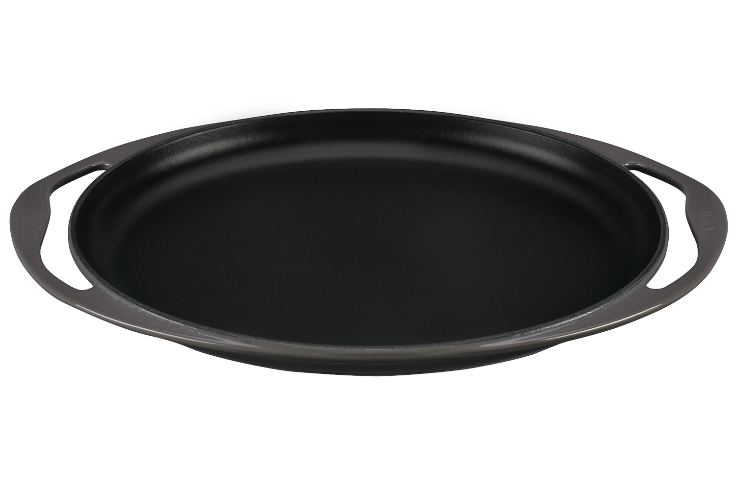 Le Creuset Enameled Cast Iron 12 1/4 inch Oval Skinny Griddle - Oyster