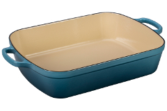 Le Creuset Signature Cast Iron 5 1/4 qt. Rectangular Roaster - Marine